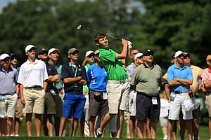 Matt Fitzpatrick during the quarterfinals at the 2013 U. S. Amateur at The Country Club.