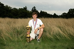 Matt Fitzpatrick defeated Oliver Goss 4 and 3 at the 2013 U. S. Amateur at The Country Club.