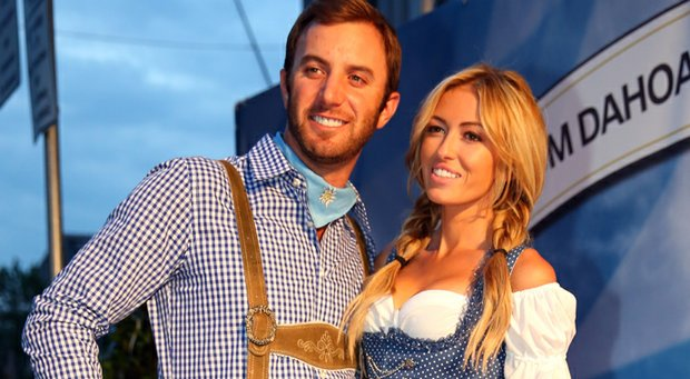 Dustin Johnson attends with Paulina Gretzky the BMW International Open 25th Anniversary Party at Rilano No.6 Lenbach Palais in Munich, Germany.