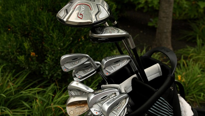 Matthew Fitzpatrick's golf clubs at the U.S. Amateur.