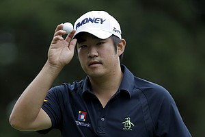 John Huh during the final round of the 2013 Wyndham Championship in Greensboro, N.C.