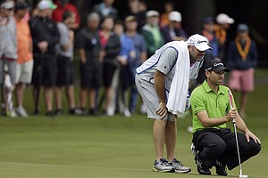 Sergio Garcia during the final round of the 2013 Wyndham Championship in Greensboro, N.C.