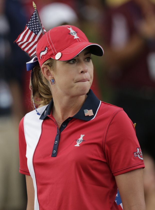 Paula Creamer during Sunday singles matches in the 2013 Solheim Cup at Colorado Golf Club.