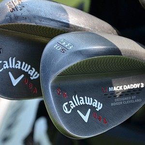 Chris Kirk went to the University of Georgia and shows his school pride on his Callaway Mack Daddy 2 wedges.