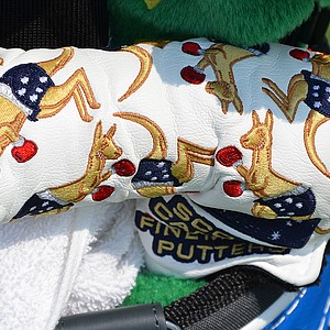 John Senden, who is Australian, has a putter headcover that's covered with boxing kangaroos.