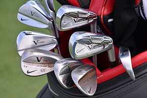 Carl Pettersson's set of Nike irons includes VR_S Forged long- and mid-irons and VR Pro Blade short irons.