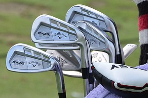 Jim Furyk, winner of the 2010 Tour Championship, plays Callaway Razr X Forged irons.