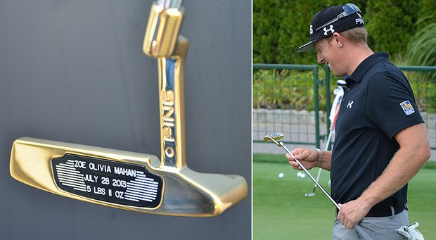 When Ping staff players win a tournament, the company honors them with a gold-plated putter. Hunter Mahan received one for another special reason: the birth of his daughter.