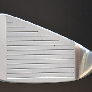 A tungsten weight positioned in the toe of the S55 counterbalances the weight of the hosel and shifts the sweet spot into the center of the face.