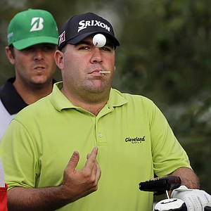 Kevin Stadler during the first round of the 2013 Barclays at Liberty National, the first event of the FedEx Cup playoffs.