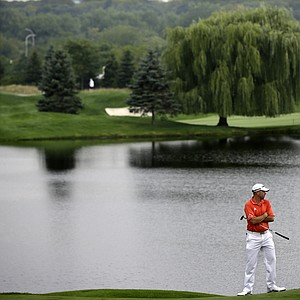 Josh Teater during the first round of the 2013 Barclays at Liberty National.