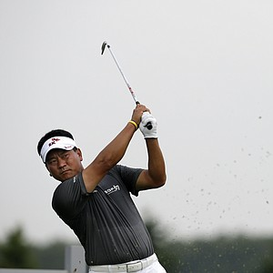 K.J. Choi during the first round of the 2013 Barclays at Liberty National.