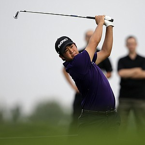 John Huh during the first round of the 2013 Barclays at Liberty National.