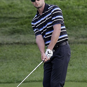 Kyle Stanley during the first round of the 2013 Barclays at Liberty National.
