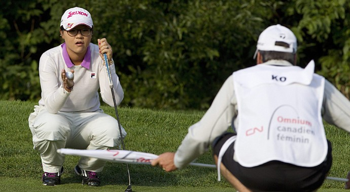 Lydia Ko during the first round of the 2013 Canadian Women's Open at Royal Mayfair in Edmonton, Alberta.