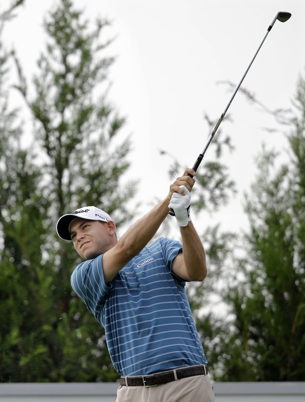 Bill Haas during Friday play at The Barclays at Liberty National, the first event of the 2013 FedEx Cup.