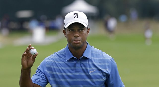 Tiger Woods during The Barclays, the first event of the PGA Tour's 2013 FedEx Cup playoffs.