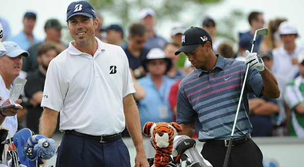 Matt Kuchar and Tiger Woods played the first two rounds together, going a combined 17 under. Kuchar leads at 11 under, while Woods is at 6 under.