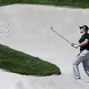 Chris Stroud during Saturday play at Liberty National in The Barclays, the first event of the PGA Tour's 2013 FedEx Cup.