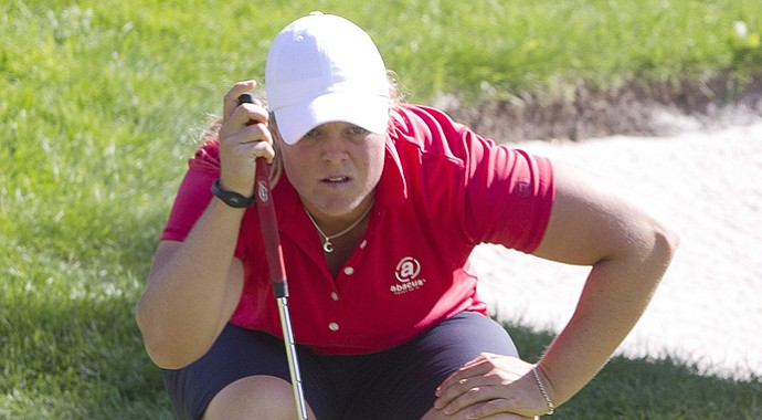 Caroline Hedwall during the third round of the 2013 Canadian Women's Open at Royal Mayfair in Edmonton, Alberta.
