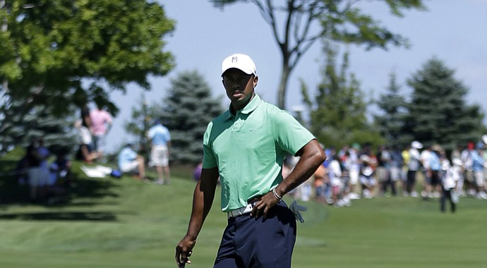 Tiger Woods during the 2013 Barclays, the first event of the FedEx Cup, at Liberty National.