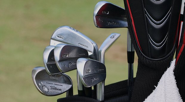 Adam Scott's winning clubs used at The Barclays, the first event of the 2013 FedEx Cup playoffs on PGA Tour, at Liberty National.