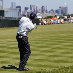 Matt Kuchar during the final round of The Barclays at Liberty National, the first event of the 2013 FedEx Cup playoffs on PGA Tour.