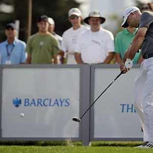 Stewart Cink during the final round of The Barclays, the first event of the 2013 FedEx Cup playoffs, at Liberty National.