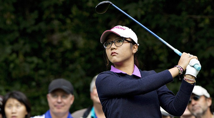 Lydia Ko during the final round of the 2013 Canadian Women's Open at Royal Mayfair in Edmonton, Alberta.