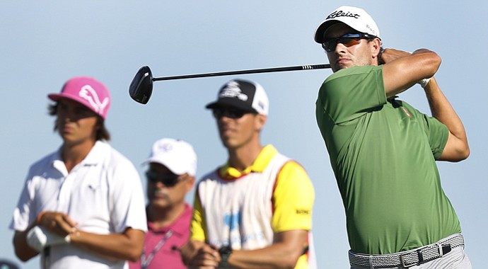 Adam Scott during The Barclays at Liberty National, the first event of the 2013 FedEx Cup playoffs on PGA Tour.