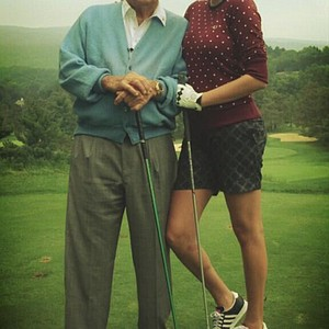 Arnold Palmer and Kate Upton