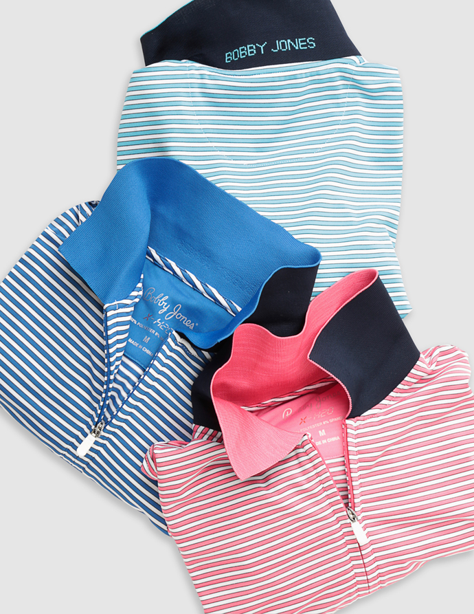 Bobby Jones XH2O performance knit polos.