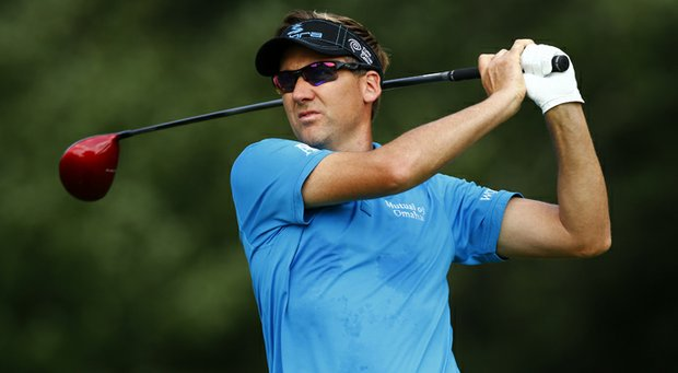 Ian Poulter during the first round of the Deutsche Bank Championship Friday at TPC Boston.