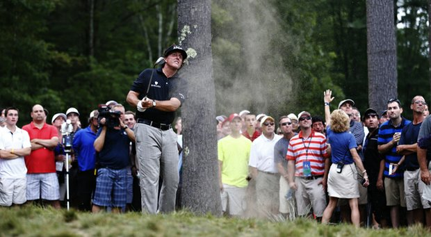 Phil Mickelson fired an even-par 71 on Saturday and is 8 under for the tournament.