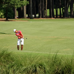 Andy Zhang hits a shot during the final round of the Junior Players Championship at TPC Sawgrass.