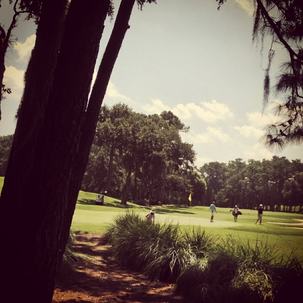 An Instagram view of No. 15 during the final round of the Junior Players Championship at TPC Sawgrass.