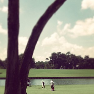 Jonathan Vasquez hits a shot at No. 18 during the final round of the Junior Players Championship at TPC Sawgrass.