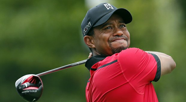 Tiger Woods during the final round of the Deutsche Bank Championship.