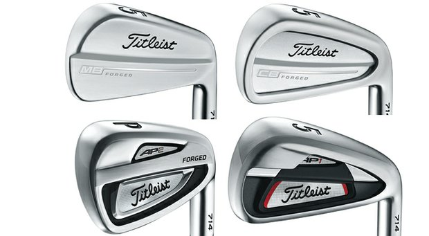 Titleist irons (clockwise, from top left): 714 MB, 714 CB, 714 AP1, 714 AP2