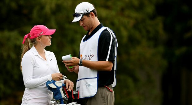 Amanda Blumenherst with her husband, Nate Freiman, at the CME Group Titleholders in 2012.