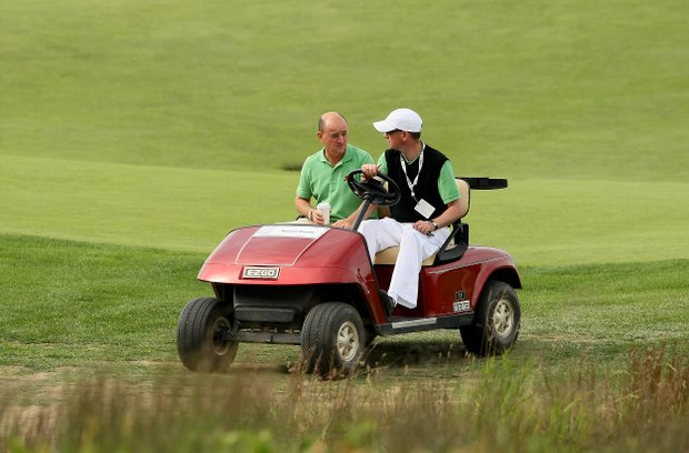 GB&I captain Nigel Edwards arrives back to National Golf Links of America in Southampton, N.Y. after a trip back home.
