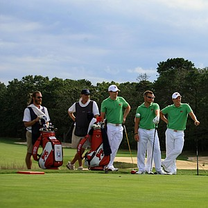 Members of the GB&I team during the 2013 Walker Cup at National Golf Links of America in Southampton, N.Y.