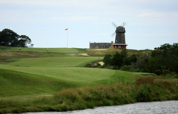 Hole No. 14 during the 2013 Walker Cup at National Golf Links of America in Southampton, N.Y.