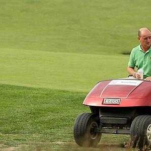 Nigel Edwards, left, returned to National Golf Links on Thursday.