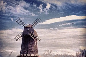 The windmill at National Golf Links of America in Southampton, N.Y.