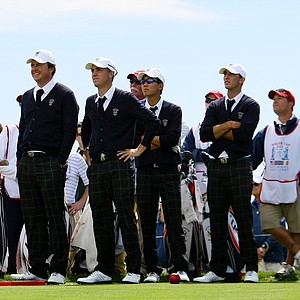 Team USA during Friday's practice at the 2013 Walker Cup at National Golf Links of America in Southampton, N.Y.