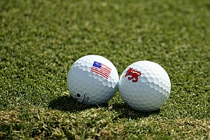 The team's golf balls during the 2013 Walker Cup at National Golf Links of America in Southampton, N.Y.