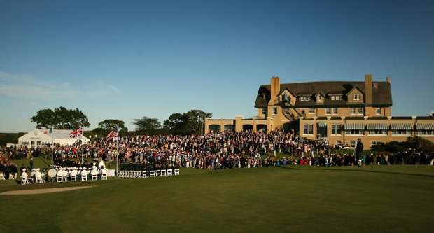 Opening ceremony of the 2013 Walker Cup at National Golf Links of America in Southampton, N.Y.