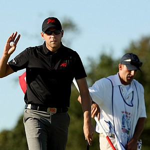 GB&I's Neil Raymond on Saturday of the 2013 Walker Cup at National Golf Links of America in Southampton, N.Y.