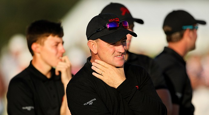 GB&I captain Nigel Edwards during the first day of the 2013 Walker Cup at Southampton, N.Y.